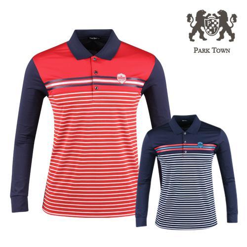 파크타운 남성 배색 카라 골프셔츠 RM20S404