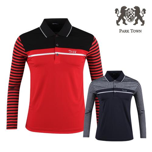 파크타운 남성 배색 카라 골프셔츠 RM20S403