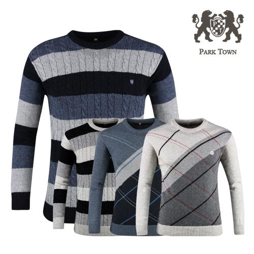 파크타운 남성 라운드 니트 스웨터 RM20S406