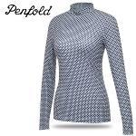[펜폴드 골프] UV차단 스판 전면 패턴 여성 하프넥 이너웨어/골프웨어_249296