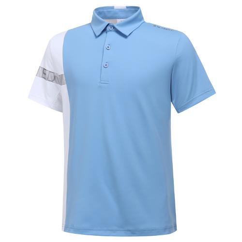 [와이드앵글] 남성 W리미티드 배색 반팔 티셔츠 M WMM20209B2