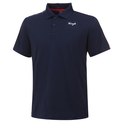 [와이드앵글] 남성 레이블럭 PQ 솔리드 반팔 티셔츠 M WMM20294N4