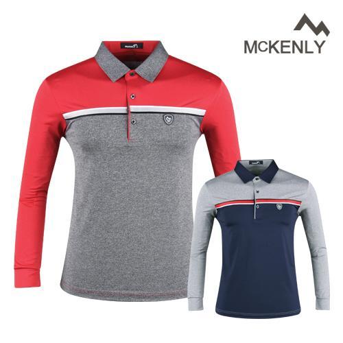 맥킨리 남성 배색 카라 골프셔츠 RM20S401