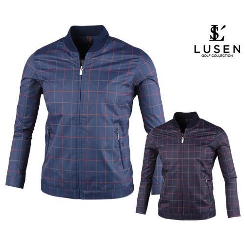 루센 스퀘어 패턴 블루종 자켓 BLU20S802