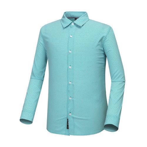 [와이드앵글] 남성 SCANDIC 패턴 메쉬 긴팔 셔츠 WMP18434B4
