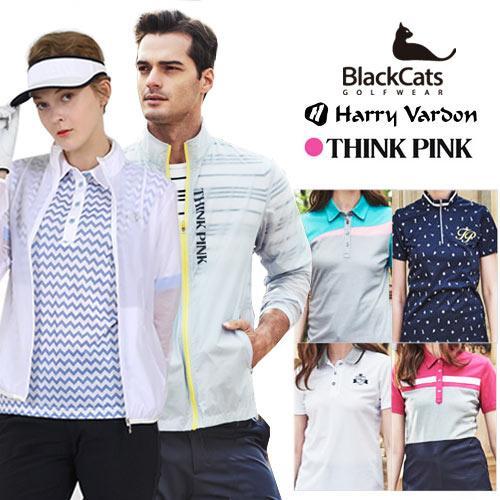 헤리바든,THINKPINK,블랙캣츠 SS 골프웨어 3종세트(바지),or 5종세트 (바람막이+티셔츠4종)