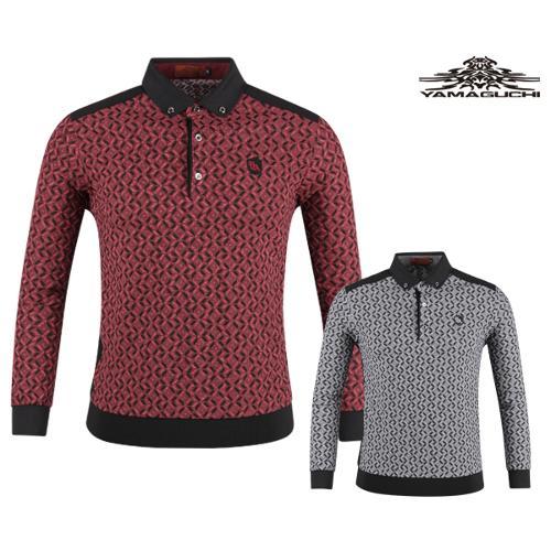 야마구찌 프리미엄 유니크 패턴 골프셔츠 YG20S402