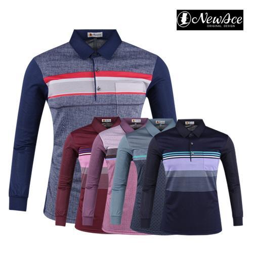 뉴에이스 배색 베이직 골프셔츠 AE20S402