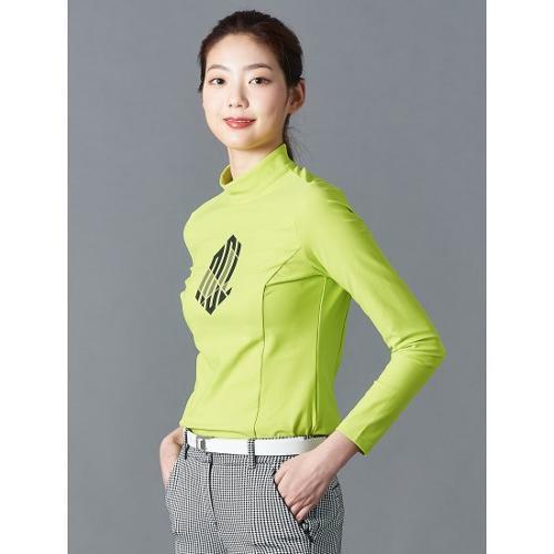 [빈폴골프] [NDL라인] 여성 애플그린 빅로고 하이넥 티셔츠 (BJ0241L42K)