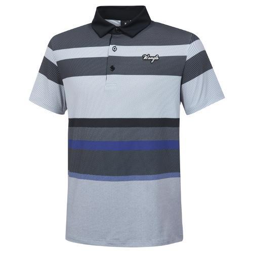 [와이드앵글] 남성 멀티 스트라이프 프린트 반팔 티셔츠 M WMM20238Z1