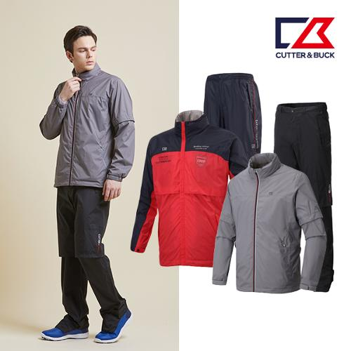 커터앤벅 남성 최고급 방수 비옷 상하의세트 3종 택1
