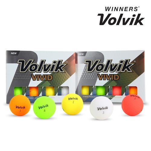 [볼빅 정품] NEW VIVID 비비드 레인보우 무광 골프공 혼합 컬러_3피스