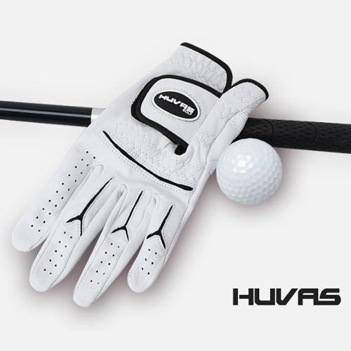 휴베스골프 HUVAS GOLF 남성 최고급 100% 천연 양피가죽 골프장갑 3장 1세트