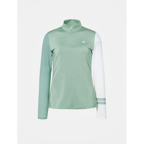 [빈폴골프] 여성 라이트 그린 반집업 냉감 티셔츠 (BJ9641A02L)
