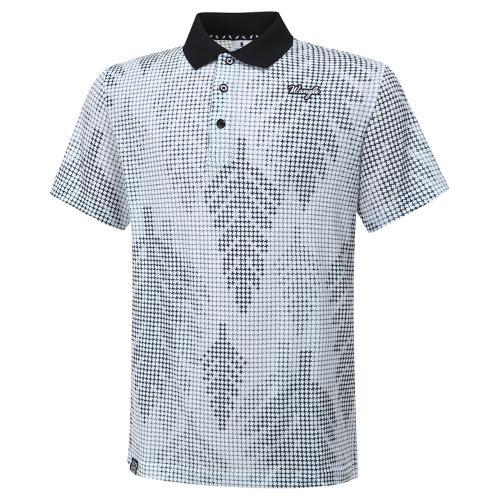 [와이드앵글] 남성 로타 콜라보 십자 패턴 반팔 티셔츠 M WMM20236W2