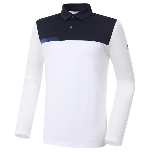 [와이드앵글] 남성 컨피던스 긴팔 카라 티셔츠 (W.ICE)M WMM20211W2