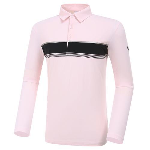 [와이드앵글] 남성 W리미티드 보더형 긴팔 티셔츠 M WMP20203P1