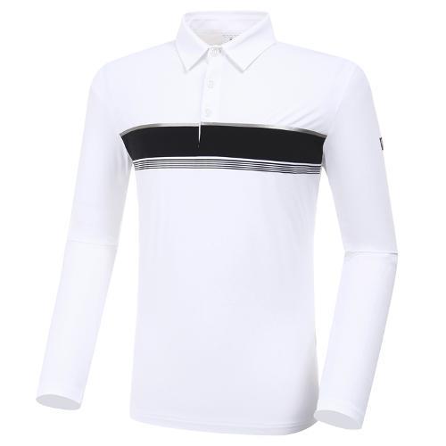 [와이드앵글] 남성 W리미티드 보더형 긴팔 티셔츠 M WMP20203W2