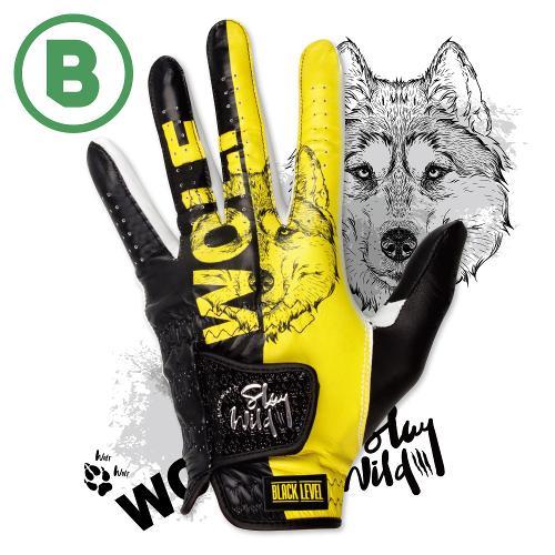 블랙레벨 블랙울프 세계최초 프리미엄 올양피 디자인 골프 장갑