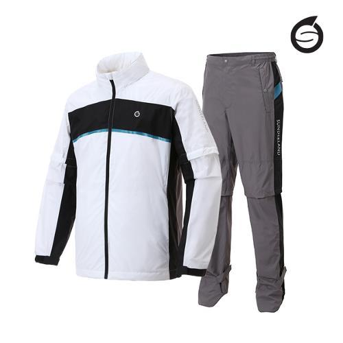 선덜랜드 남성 삼색블럭 비옷 상하의세트 - 16051RW01