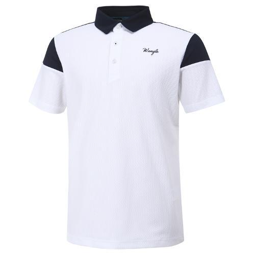[와이드앵글] 남성 베이직 배색형 반팔 티셔츠 M WMM20293W2