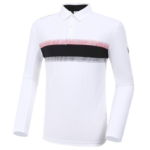 [와이드앵글] 남성 보더 긴팔 티셔츠(W.ICE) M WMM20201W2