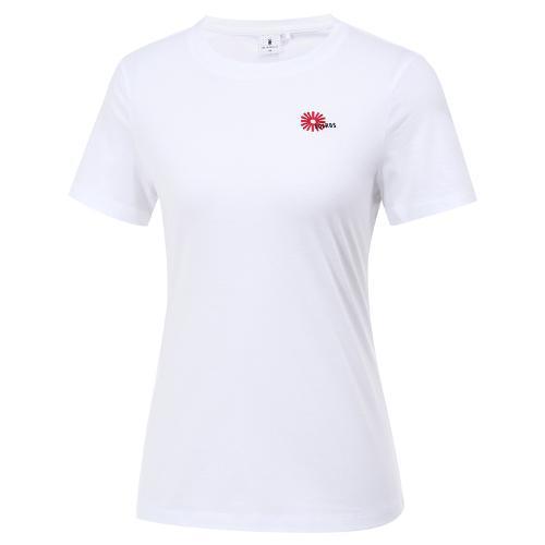 [와이드앵글] 여성 로타 콜라보 원포인트 라운드 반팔 티셔츠 L WWM20271W2