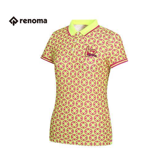 [레노마골프]여성 패턴 카라 반팔 티셔츠 RWTPG6119-130_G