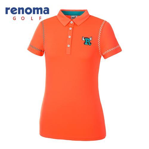 [레노마골프]여성 지그재그 카라 반팔 티셔츠 RWTYG6104-301_G