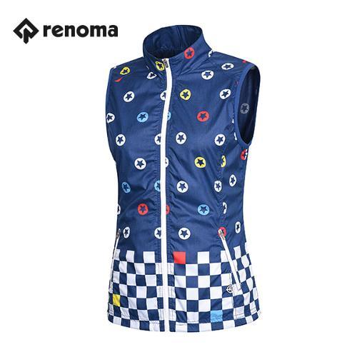[레노마골프]여성 캐주얼 패턴 집업 베스트 RWVEG5312-120_G