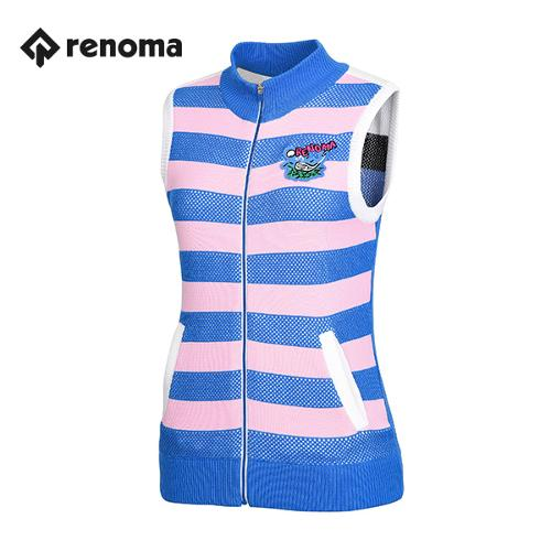 [레노마골프]여성 줄무늬 니트 집업 베스트 RWSVG5207-110_G