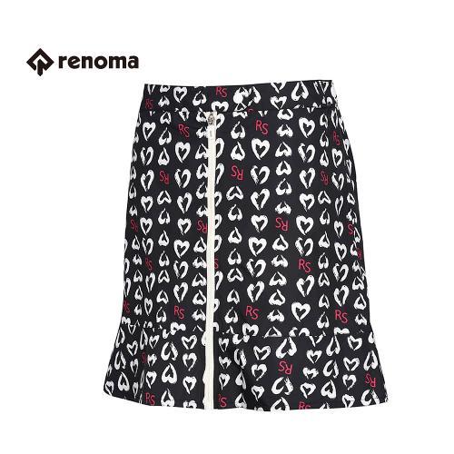 [레노마골프]여성 패턴 지퍼 트임 스커트 RACU55611-BK_G