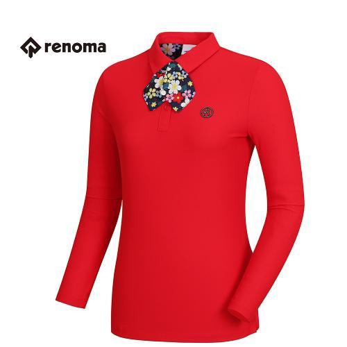 [레노마골프]여성 꽃무늬 스카프 카라 티셔츠 RWTPH5102-500_G