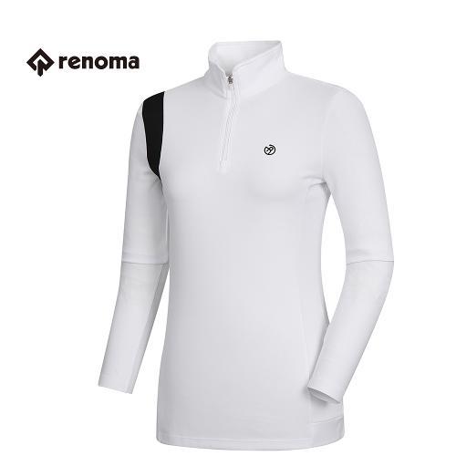 [레노마골프]여성 기능성 반집업 롱 티셔츠 RWTHH5112-100_G