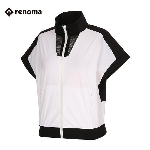 [레노마골프]여성 컬러 블록 집업 베스트 RWVEJ5303-101_G