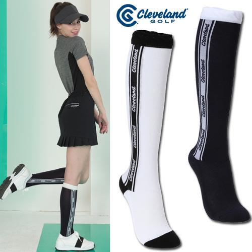 [클리브랜드골프] 쿠셔닝 로고배색라인 여성 골프 니삭스/골프양말/골프용품_CGKWKS052