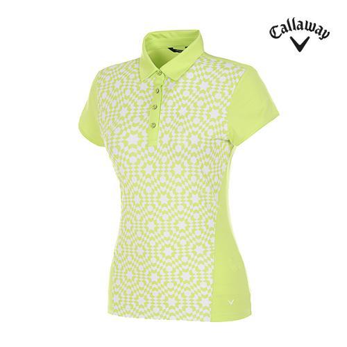[캘러웨이]여성 옵티컬 프린트 반팔 티셔츠 CWTYF6114-204_G