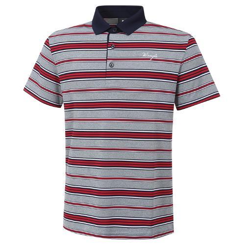 [와이드앵글] 남성 베이직 멀티스트라이프 반팔 티셔츠 M WMM20295R2