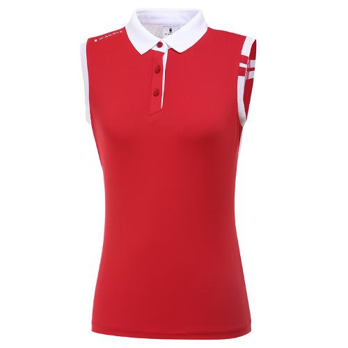 [와이드앵글] 여성 플레그 라인 슬리브리스 민소매 티셔츠 L WWM20211R2