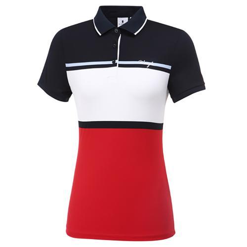 [와이드앵글] 여성 와이드 ST. 폴리 PQ 반팔 티셔츠 L WWM20292R2