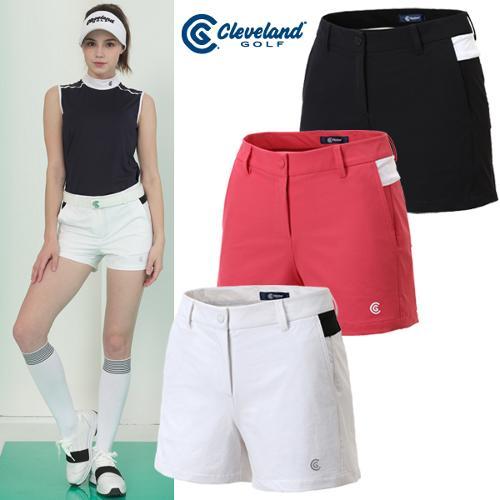 [클리브랜드골프] 스트레치 컬러배색 로고 포인트 여성 골프 반바지/골프웨어_CGKWPT087088