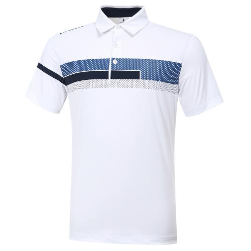 [와이드앵글] 남성 변형 보더 카라 반팔 티셔츠 M WMM20205W2