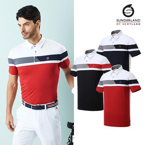 선덜랜드 남성 컬러블록 반팔 티셔츠 - 16021TS01