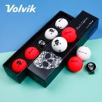 볼빅 비비드 스컬팩2 에디션 3피스 골프공 4알+볼마커