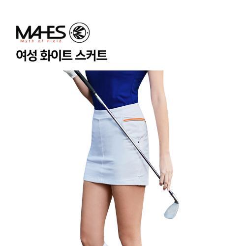 [마헤스] 여성 화이트 스커트 GKW9071 골프패션