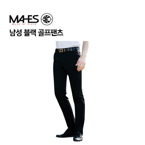 [마헤스] 남성 블랙 골프팬츠 GPM7028 골프패션