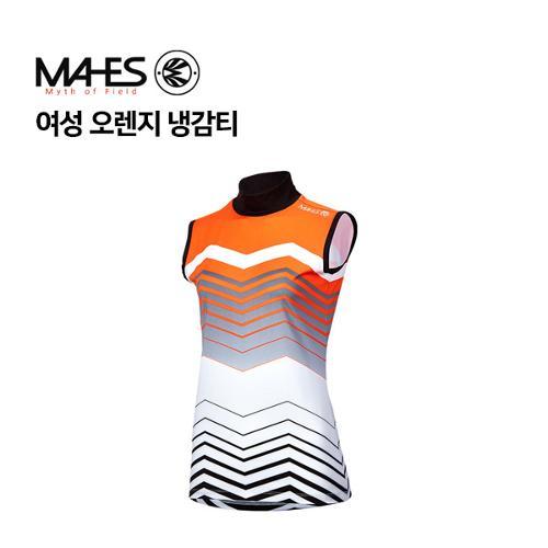 [마헤스] 여성 오렌지 냉감티 GP80215 골프패션