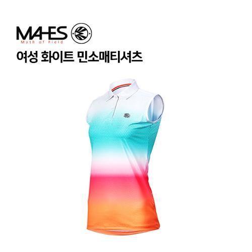 [마헤스] 여성 화이트 민소매티셔츠 GS60352 골프패션