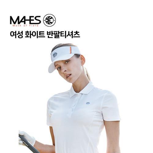 [마헤스] 여성 화이트 반팔티셔츠 GS60287 골프패션