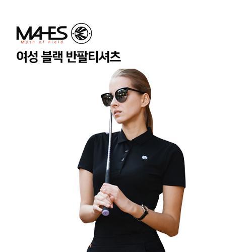 [마헤스] 여성 블랙 반팔티셔츠 GS60285 골프패션